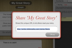 Sharing stories in inklewriter